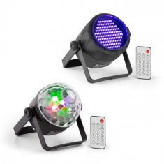 Beamz PLS35, Set V5 Jellyball, 4 x 3 W LEDs, pereche de led-uri, spotlight, PLS20 lumină neagră UV