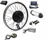 Kit conversie bicicleta electrica 36v 500w (roata fata); Baterie 10A inclusa