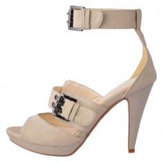 Pantofi decupati dama, din piele naturala, marca Feeling, BFL8223-51-K2, alb satin 38
