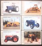 ROMANIA 1985 LP 1137 tractoare, serie 6v. nestampilata, Nestampilat