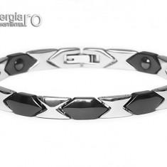 Brăţară Magnetică Energetică Tungsten și INOX - cod BRA036