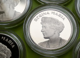 50 Bani 2019 PROOF , Moneda Regina Maria , in capsula , Romania