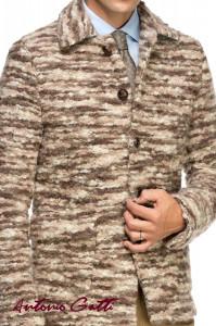 Palton Barbati Maro Casual Scurt din Stofa Bucle B162 Lan03