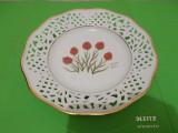 Cumpara ieftin PORTELAN german SCHUMANN , farfurie decorata cu ORHIDEEA rara Gymnadenia nigra, Decorative