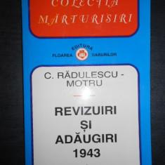 C. RADULESCU-MOTRU - REVIZUIRI SI ADAUGIRI 1943.  volumul 1