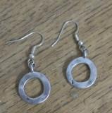 Cercei argintii - cercuri zamac argintat si antichizat