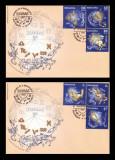 2011 Romania, 2 FDC Zodiac (II) LP 1919, Horoscop plicuri prima zi