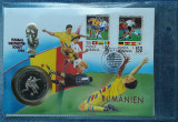 2000 Kwacha 1994 Zambia PROOF FDC + moneda tematica Romania CM fotbal
