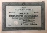 Actiuni 1000 ReichMark Wanderer-Werke 1942