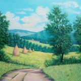 Dealuri pictate cu vara, Peisaje, Ulei, Altul