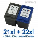 Cumpara ieftin Pachet Cartus HP 21XL HP21 XL + HP 22XL HP22 XL compatibile + CADOU 100 ML...