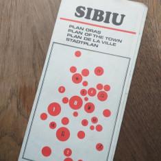 HARTA SIBIU, CCA 1970, PLIANT TURISTIC