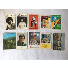 Lot 10 calendare de buzunar anii '70, colectie, vintage