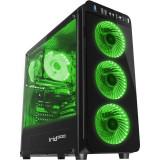 Sistem desktop ITGalaxy Rogue Plus V3 AMD Ryzen 7 2700 Octa Core 3.2 GHz 16GB DDR4 nVidia GTX 1660 6GB DDR5 SSD 120GB + HDD 1TB Free Dos Black