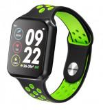 Smartwatch Techstar® Sport F9 Verde Waterproof IP67 Functie Bluetooth, Ecran 1.3 inch Conectare Android si IoS