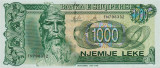 ALBANIA █ bancnota █ 1000 Leke █ 1996 █ P-61c █ UNC █ necirculata