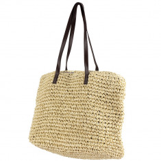 Handmade Natural Raffia Large Tote Bag