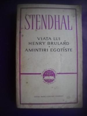 HOPCT  VIATA LUI HENRY BRULARD-AMINTIRI EGOTISTE/STENDHAL- 1965 - 596  PAGINI foto