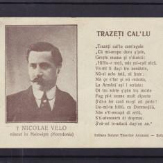 "NICOLAE  VELO  MOLOVISTE  MACEDONIA  SCRIITOR   AROMAN  TRAZETI  CAL""LU"