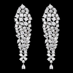 Cercei placati cu Aur 18K si Diamante, Philadelphia