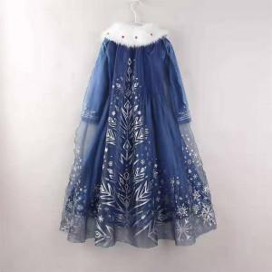 Rochie rochita Elsa cu blanita NOUA pentru 3,4,5 ani