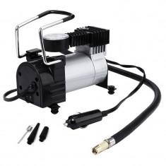 Compresor auto RoGroup, 35 l/min, metal, 10 bari, 150 PSI, manometru analogic, cablu 2.5 m