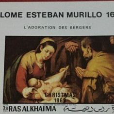 RAS AL KHAIMA, PICTURA MURILLO - SERIE COMPLETĂ MNH IMPERF.