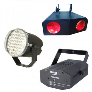 Kit pentru petreceri, laser, stroboscop, aparat iluminat 88 LED-uri