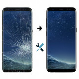 Inlocuire Geam Sticla Display Samsung Galaxy S8+ G955F Negru
