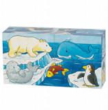 Cuburi puzzle lemn - Safari si Arctic, Goki