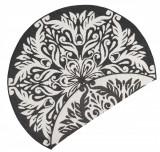 Covor Modern & Geometric Twin Supreme, Rotund, Negru, 140x140, Bougari