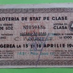 Loto Bilet de loterie 1941 -- 4