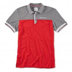 Tricou Polo Barbati Oe Bmw Golfsport Gri / Alb / Rosu Marime L 80142460945