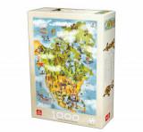 Cumpara ieftin Puzzle Cartoon Map - North America, 1000 piese