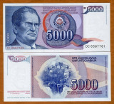 = IUGOSLAVIA - 5000 DINARA – 1985 – UNC   =