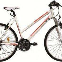Bicicleta Dama DHS Contura 2666, Cadru 19.5inch (Alb/Portocaliu)