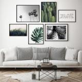 Cumpara ieftin Set 6 tablouri decorative Leafs, Heinner