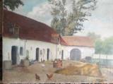 Tablou vechi Transilvania, ulei pe pânză, semnat, 60 x 50 fără ramă, Scene gen, Impresionism