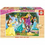 Puzzle lemn Disney Princess, 100 piese, Educa