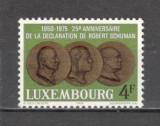 Luxemburg.1975 25 ani Declaratia lui R.Schumann  SL.775, Nestampilat