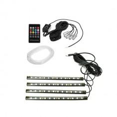 Set Fir neon Led RGB + Banda LED SMD cu telecomanda RGB Multicolor 12V 6m