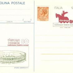 FILATELIE MANIFESTARE NATIONALA VERONA ITALIA 1980