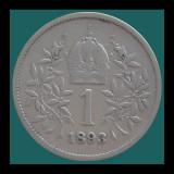 AUSTRIA KM#2804 - 1 Coroana 1893 - Ø23mm - 4.8g