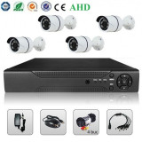 Sistem Supraveghere Video 2MP 4 Camere AHD & DVR Kit Exterior Interior