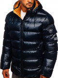 Cumpara ieftin Geacă de iarnă bărbați bleumarin matlasată Bolf 6461