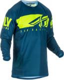 Cumpara ieftin Bluza off-road FLY RACING KINETIC Shield culoare albastru fluorescent galben, marime S