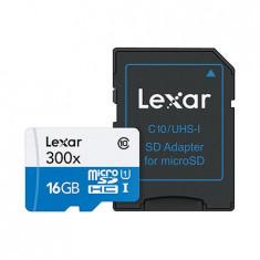 MICRO SD CARD CU ADAPTOR 16GB CLASA 10 LEXAR