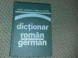 DICTIONAR ROMAN GERMAN JEAN LIVESCU EMILIA SAVIN