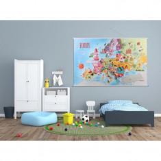 Harta Europei Tuloko TL006, 140 x 90 cm foto