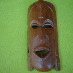 Masca africana din lemn exotic